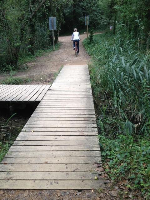En bici al Mirador d'ocells, Estany de Banyoles