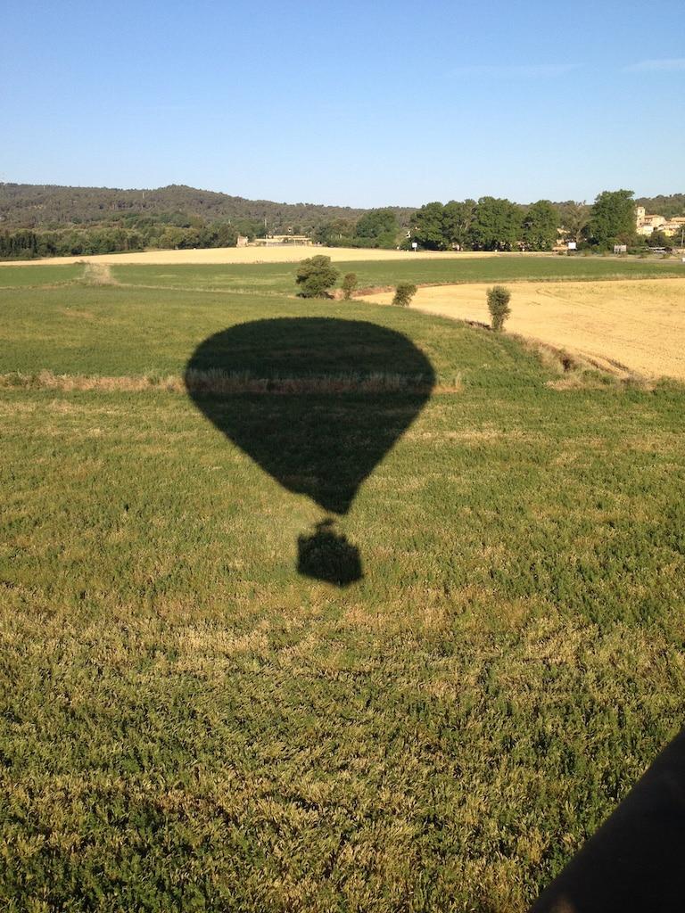 A punto de aterrizar en globo aerostático